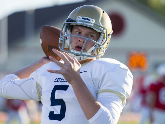 Cathedral QB Max Bortenschlager will play in the Big Ten at Maryland.