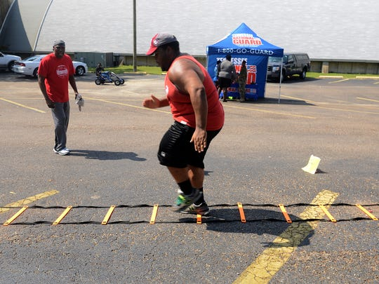 Darien Guthrie participated in the fitness challenge during Lane College's 2nd annual Campus and Community Expo on Friday afternoon. This year Lane partnered with the NAACP to promote the Get H.Y.P.E. (Healthy Young People Everywhere) initiative.