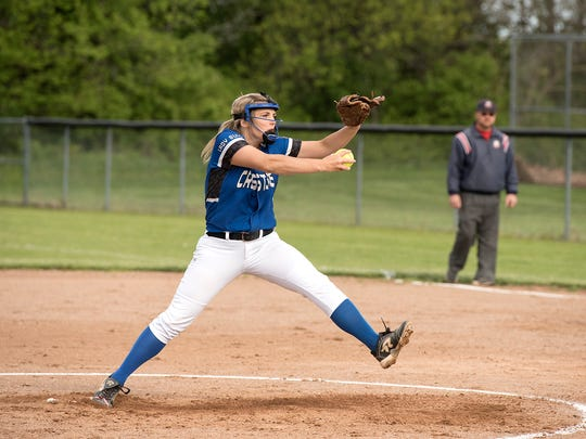 Crestline's Sarah Toy pitched a clinical game against Seneca East in her team's sectional title win.
