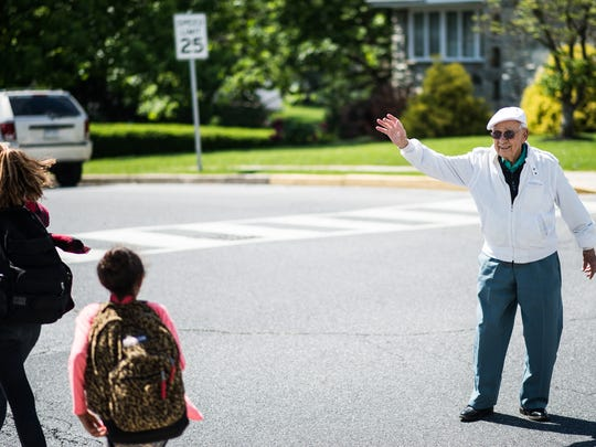"""Charles, Kercher, 96, has been a school crossing guard in Cleona for 18 years. At the end of the school year he will retire.  """"I said I would do it until they found someone else,"""" Kercher said. """"Here I am 18 years later.""""  Kercher said it was the kids that kept him around.  """"You get to see them grow up,"""" he said. """"And they will say 'Thank you' for helping them cross. And that means a lot.""""  Even after the kids are grown up and in high school they still remember Kercher.  """"One time a teenage girl came up to me in Wal-Mart and said 'Hi Mr. Kercher.' I said do I know you,"""" Kercher explained. """"She said 'you used to be my crossing guard.' That means a lot.""""  """"A 'thank you' is worth a lot to me,"""" Kercher said."""