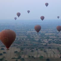 Myanmar bird's-eye view: Buddhist temples by balloon