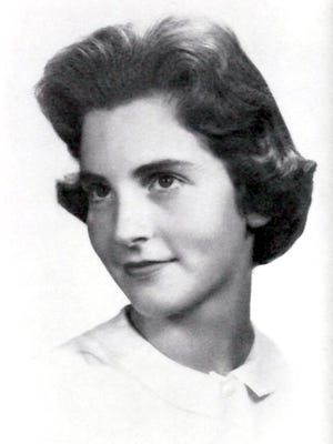 "Clare MacIntyre's 1961 yearbook photo from The Masters School in Dobbs Ferry, the year after she met Harry Chapin at their Fresh Air Fund camps near Fishkill. MacIntyre, who died March 9 at age 73, was the inspiration for Chapin's 1972 song, ""Taxi,"" in which the songwriter imagined a long-ago love getting into his cab."