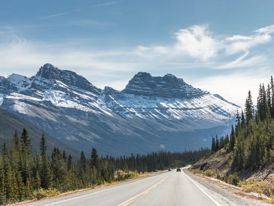 A drive along the Icefields Parkway, stretching between