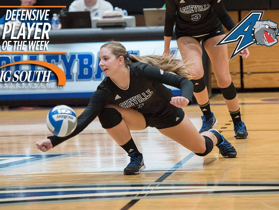 North Henderson graduate Cameron Pryor is a sophomore for the UNC Asheville volleyball team.