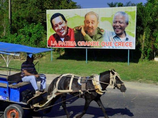The billboard celebrates progress