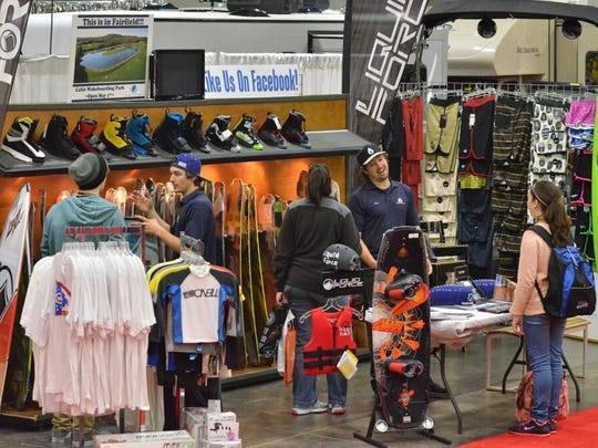 Into winter sports? Vendors for skiing, snowboarding and others are on display at the Cincinnati Travel, Sports and Boat Show.