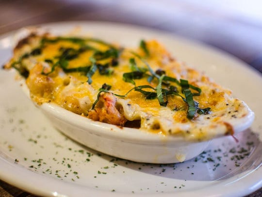 La Pizzeria's seafood lasagna is available only during
