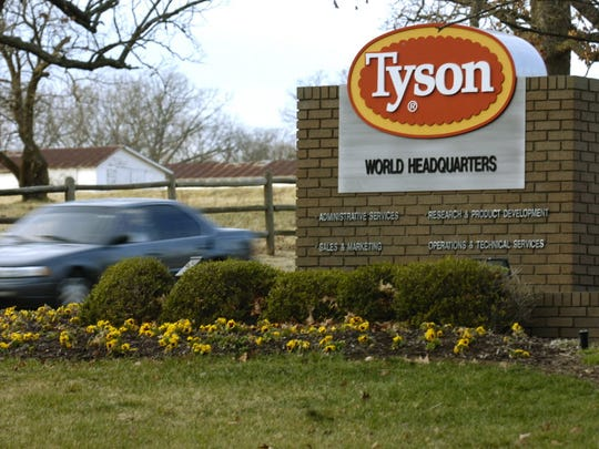 Tyson Foods  has recalled approximately 36,420 pounds of chicken nuggets because the products may be contaminated with rubber.