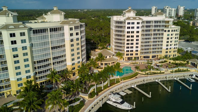 AQUA's contemporary model spans 4,171 square feet and overlooks the nearby marina.