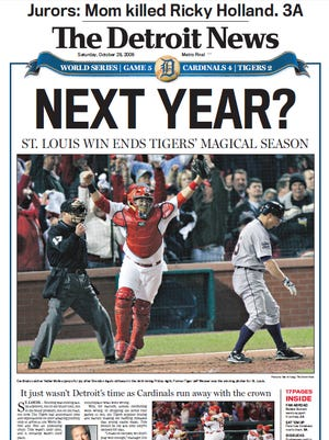 The front page of The Detroit News on Oct. 28, 2006.