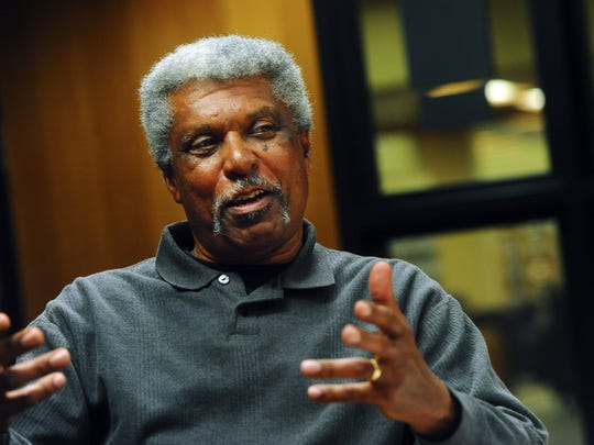 Bob Harris talks about the civil rights movement and what it was like growing up black in Sioux Falls, S.D. in the 70's at the downtown Siouxland Library on Wed., Feb. 11, 2015.