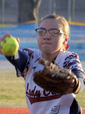 """Senior pitcher Brisa Mireles will share the Lady Cat battery with senior Julyssa """"Boo"""" Ortiz and freshmen relievers Adriana Jaquez and Evelyn Ramirez whe the Deming High varsity compete in the 32-team Rio Rancho Invitational Tournament, Thursday through Saturday."""