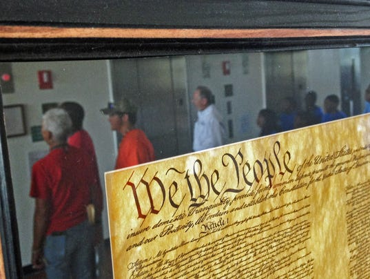 replicas of founding documents at Brevard County government complex