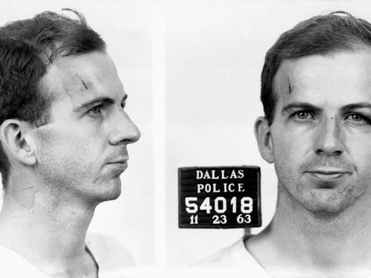 This is Lee Harvey Oswald's mug shot, taken after his
