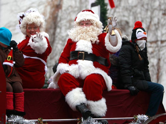 Santa and Mrs. Claus always are popular draws during the Downtown Springfield Christmas Parade.