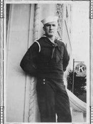 Joe George in the U.S. Navy.