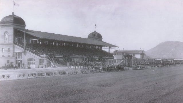 An undated photo of the Juarez race track.