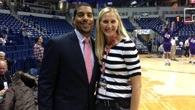 Janet Haneberg joins Ohio's first Mr. Basketball, Toledo Macomber product Jimmy Jackson.