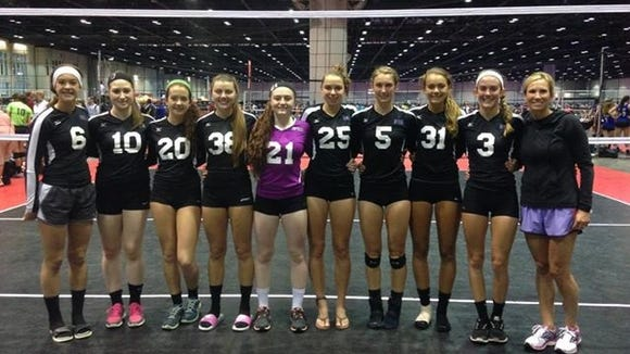 The Biltmore Volleyball Academy 17 elite team.