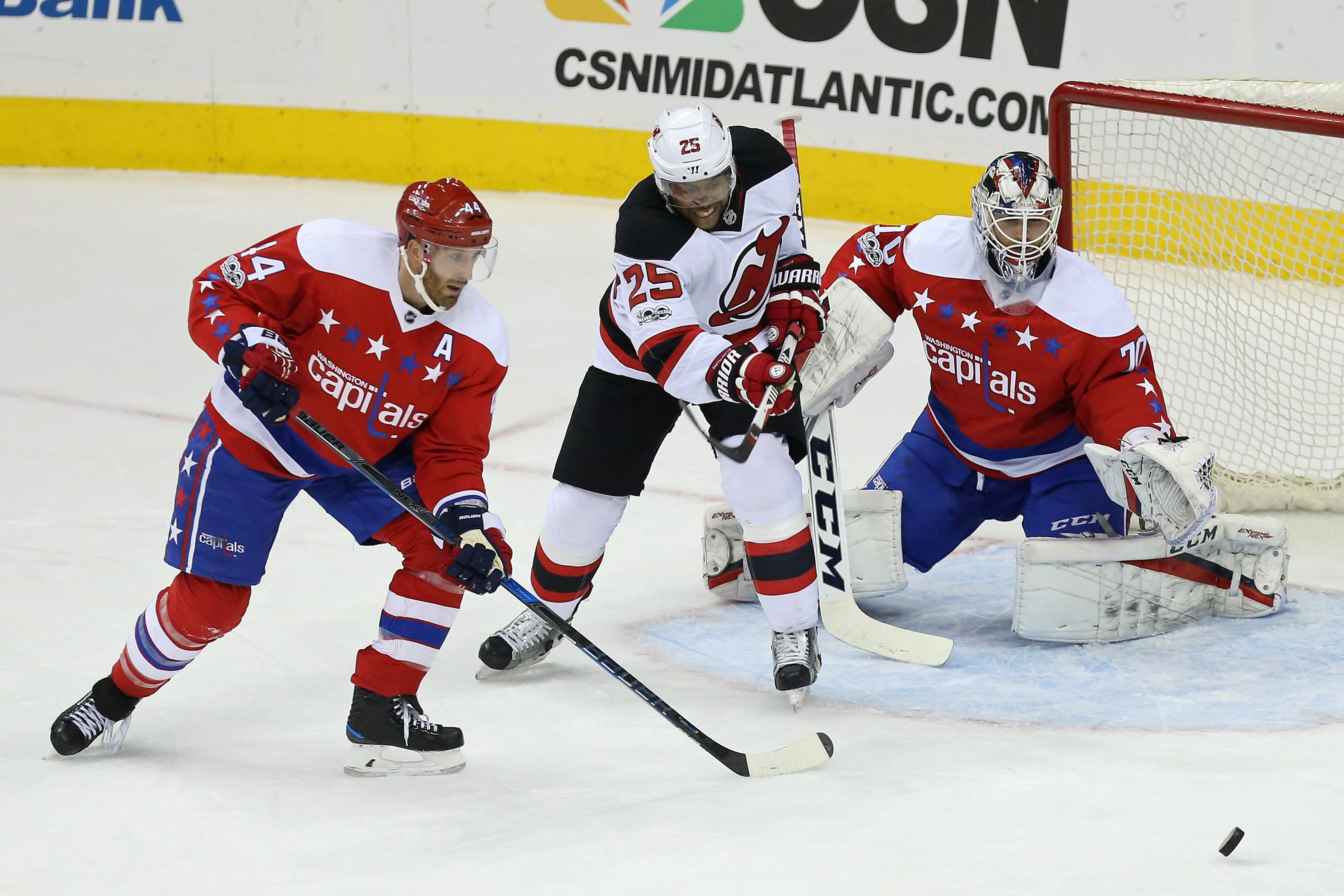 image relating to Washington Capitals Printable Schedule named Capitals blank Devils, 1-0