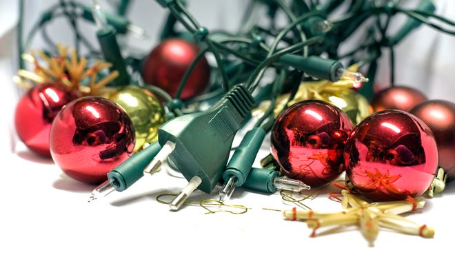 Never use more than three sets of lights on a single extension cord and don't overload electrical outlets.