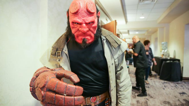 A fan dresses up as Hellboy at the HorrorHound convention in 2017. The convention returns with in-person events at Sharonville Convention Center.