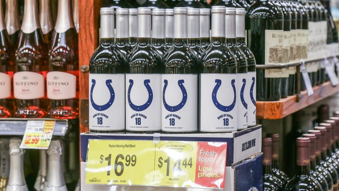 Colts wine is for sale at Kroger, 1217 S. Rangeline Rd. in Carmel Ind. on Monday, Oct. 9, 2017.