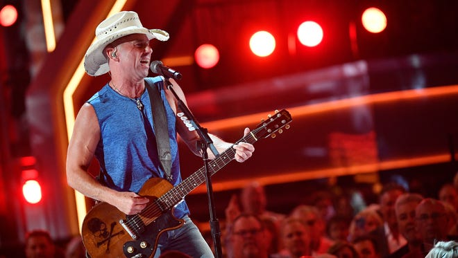Kenny Chesney performs during the 53rd Academy of Country Music Awards at the MGM Grand Garden Arena Sunday, April 15, 2018, in Las Vegas.