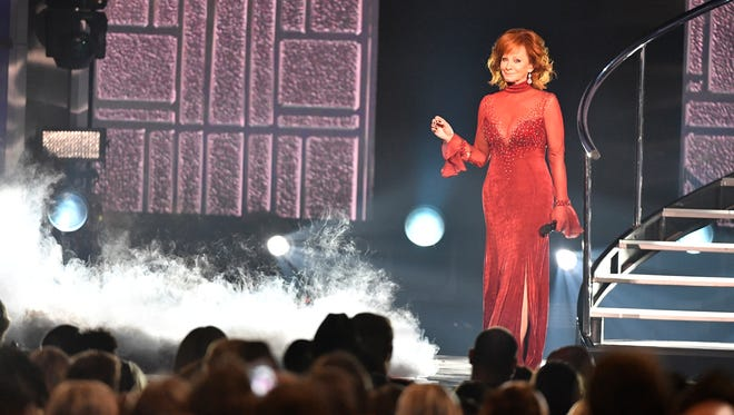 Host Reba McEntire performs during the 53rd Academy of Country Music Awards at the MGM Grand Garden Arena on Sunday, April 15, 2018, in Las Vegas.