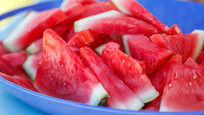 Melon Fest – featuring a sweet crop of cantaloupes and red- and yellow-meat watermelons – will be from 7 a.m. until noon Saturday, July 21, at the Farmers Market Pavilion at 609 S. Oakes St. across from Fort Concho.