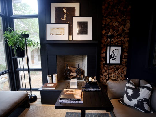 Interior photo taken at the O'More showhouse Tuesday