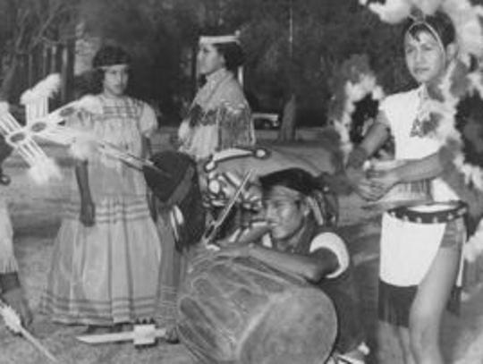 A 1958 photo of the Indian School band. The Phoenix