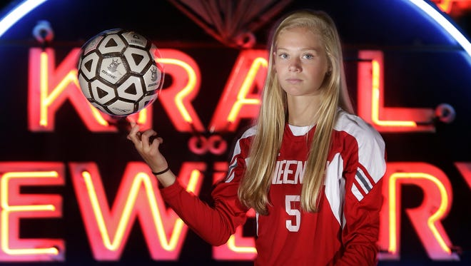 Alyssa Barnes of Neenah is Post-Crescent Media's girls' soccer athlete of the year. The photo was taken at the History Museum at the Castle in Appleton.