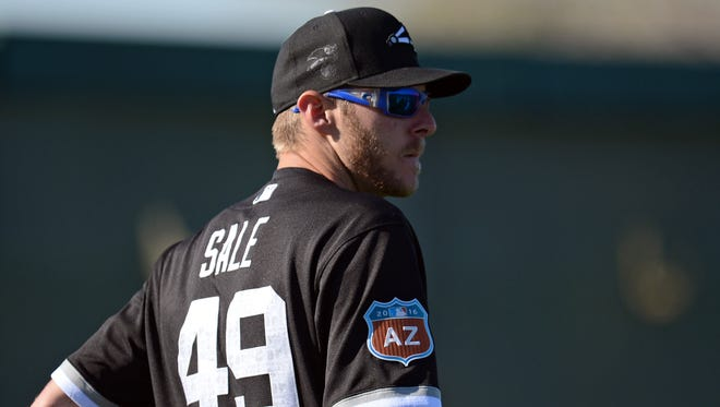 Chris Sale truck out more batters than any pitcher in franchise history last season.