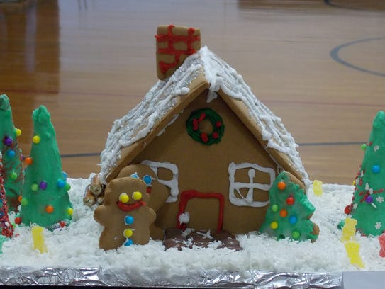 Winning gingerbread house entries were on display during