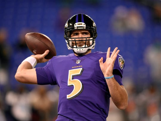 The Baltimore Ravens are counting on a better season from veteran quarterback Joe Flacco in 2018. AP FILE PHOTO