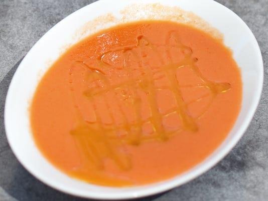 Tomato cucumber gazpacho