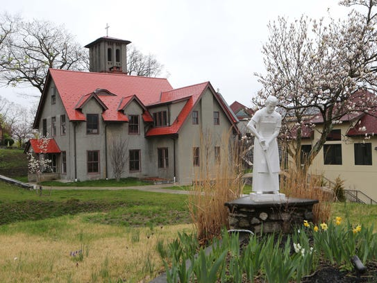 The historic St. Francis Chapel on the grounds of Graymoor
