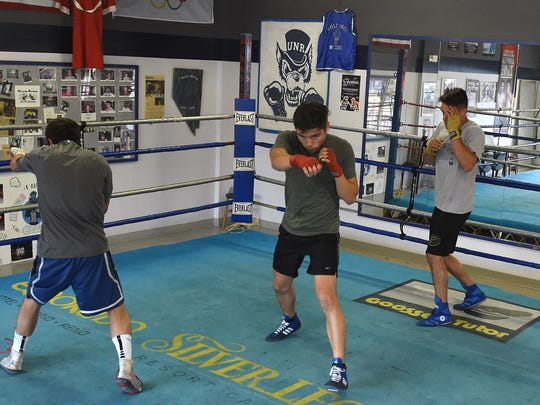 The Nevada boxing team gets in shape at their gym last