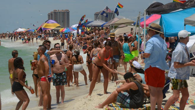 Memorial Weekend brings the LGBT community to Park East on Pensacola Beach.
