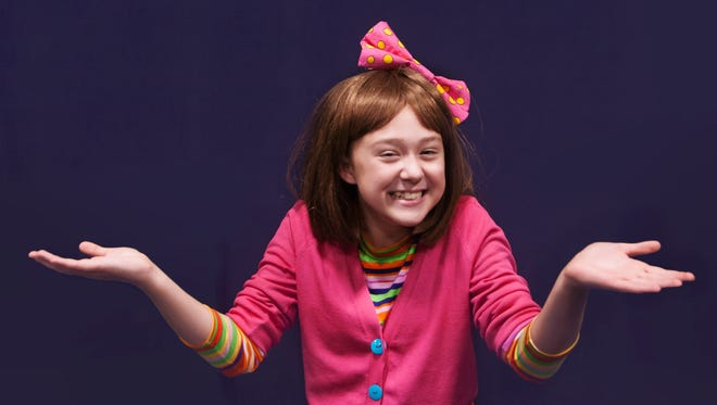 Junie B Jones is played by Katharine Lathe in a GREAT Theatre production.