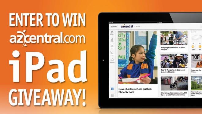 We're giving away one iPad every week for nine weeks!