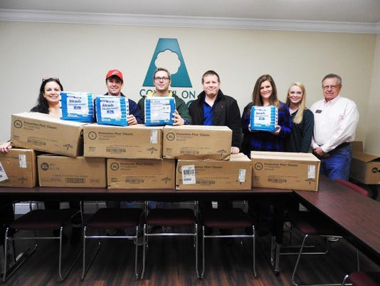Pensacola Fire Donation of Diapers