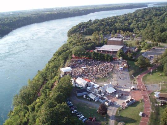 Artpark is perched above the Niagara River in Lewiston, Niagara County.