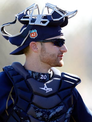 Jonathan Lucroy is surprised he remains in Milwaukee Brewers camp.