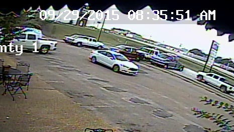 A white Ford Fusion believed to have been used in an attempted kidnapping.