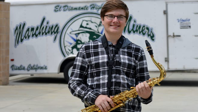 Christopher Hornung, 17,  is a senior at El Diamante High School in Visalia. He is the school's drum major and is using his love for music for his Eagle Scout project.