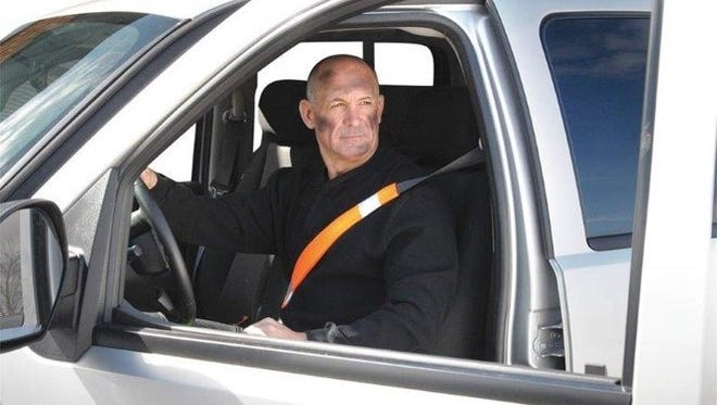 An Operation Order was released in February from ATEC Headquarters mandating all government vehicle driver seat belts be installed with high-visibility seat belt covers like the one in this photo.