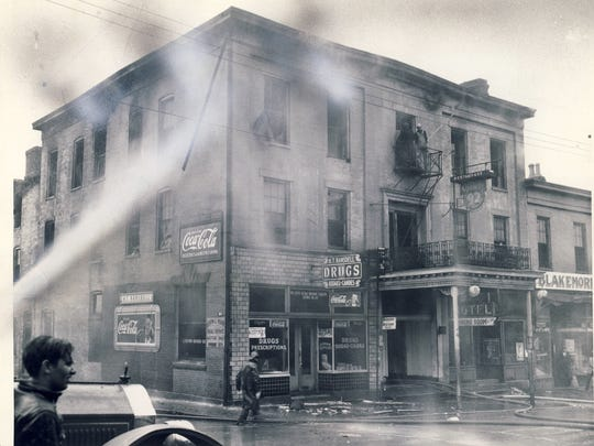 A fire swept through the  Armstrong Hotel in Shelbyville in 1944,  injuring six people.  CJ caption Feb. 8, 1944