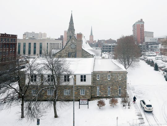 High winds, frigid temperatures and snow blanketed